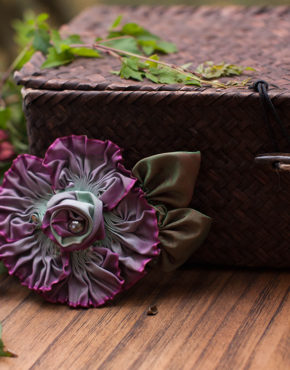 Purple Ombre Pleated Rose