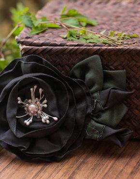 Black Folded Rose