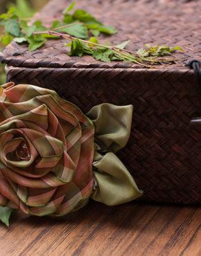 Green Plaid Rose